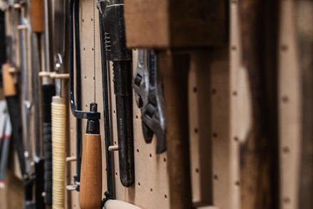 Tools In Workspace - Charlie Banthorpe's studio at Freestone Studios, Meanwhile Creative