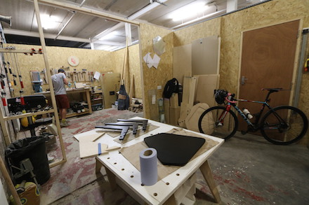 Wide view of the workshop - Charlie Banthorpe's studio at Freestone Studios, Meanwhile Creative