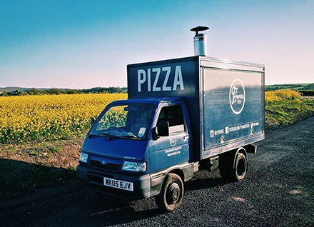 Ffwrnes Pizza Van at Meanwhile House party