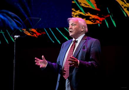 Sir David Attenborough at Wildscreen Festival 2016. Photographer Jon Craig