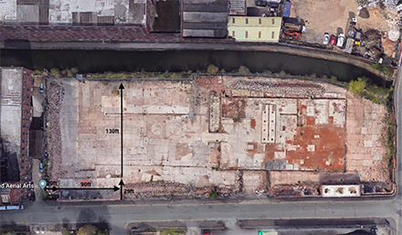 Aerial view - Pollard Yard | Converted container workspaces in central Manchester