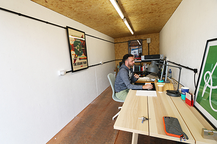 Inside a container Pollard Yard | Converted container workspaces in central Manchester